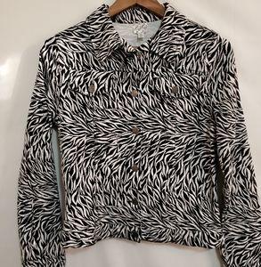 Disney 💕  Zebra striped girl's jacket. Size XL.